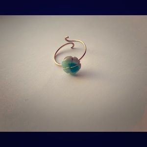 Emerald Flower Ring (Imported) (14k GF)